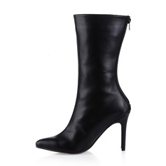 Women's Leatherette Stiletto Heel Mid-Calf Boots shoes