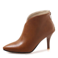 Women's Leatherette Stiletto Heel Boots Ankle Boots shoes