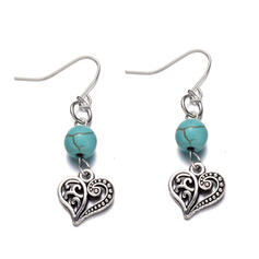 Charming Fancy Alloy Imitation Turquoise Earrings