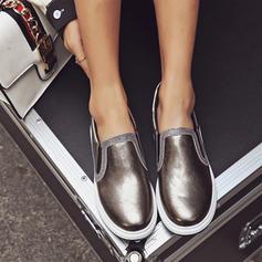 Femmes PU Talon compensé Bout fermé Compensée avec Élastique chaussures