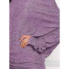 Μακρυμάνικο/Μανίκια Νυχτερίδα Κολλητό Πάνω Από Το Γόνατο Καθημερινό Сукні