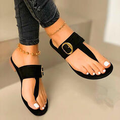 Жіночі ПУ Низька підошва Сандалі В'єтнамки Тапочки з В'язаний одяг взуття