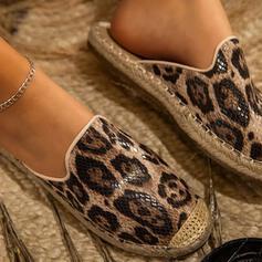 Femmes PU Talon plat Sandales Chaussons avec Transparent chaussures