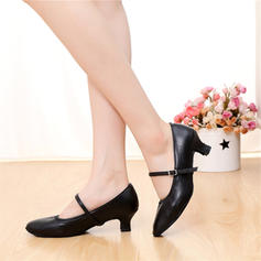 Women's Character Shoes Pumps Real Leather With Buckle Modern