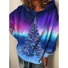 Print Skov Lange ærmer Jule sweatshirt