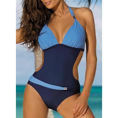 Low Waist Halter Elegant Plus Size One-piece Swimsuits