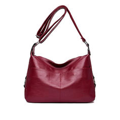 Solid Color PU Shoulder Bags/Hobo Bags
