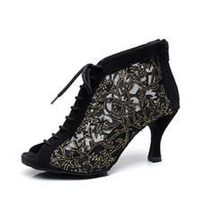 Femmes Dentelle Chaussures plates Tennis Pratique Fête avec Ouvertes Dentelle Chaussures de danse