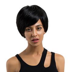 Tout droit Cheveux humains Perruques pour cheveux humains