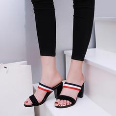 Women's Leatherette Chunky Heel Sandals Pumps Peep Toe Slingbacks shoes