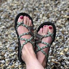 Naisten Kangas Matalakorkoiset Heel Sandaalit Matalakorkoiset jossa Punottu hihna kengät