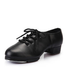 Women's Tap Heels Leatherette With Lace-up Tap