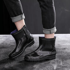 Men's Rubber Low Heel Rain Boots shoes