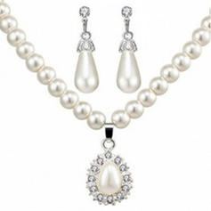 Fashionable Alloy Rhinestones Imitation Pearls Ladies' Jewelry Sets