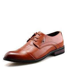 Cap Toes Lace-up Dress Shoes Microfiber Leather Men's Men's Oxfords