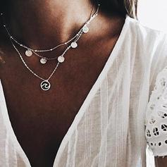 Con estilo Aleación Señoras' Collar de la manera (Sold in a single piece)