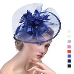 Dames Élégante Batiste avec Feather Chapeaux de type fascinator/Chapeaux Tea Party