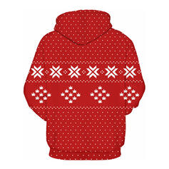 Uniseks katoenblends Print De Kerstman Kerst Sweatshirt