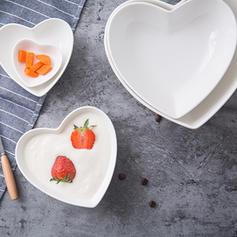 A forma di cuore Porcellana Ciotole Per Dessert (set Di 5)