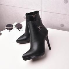 Dla kobiet Skóra ekologiczna Obcas Stiletto Czólenka Kozaki Z Cekin Zamek błyskawiczny obuwie