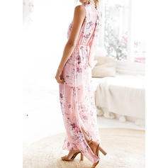 Floral Sleeveless Shift Casual/Boho/Vacation Maxi Dresses