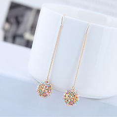 Flower Shaped Alloy Women's Earrings