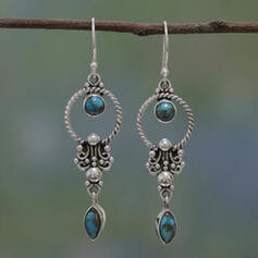 Boho Charming Alloy Turquoise Earrings 2 PCS