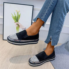 De mujer PU Casual con Rhinestone zapatos