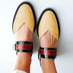 Women's PU Flat Heel Flats With Buckle shoes