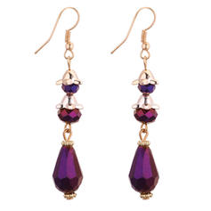 Fashionable Copper Glass Ladies' Fashion Earrings