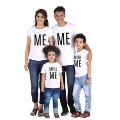 Letter Print Familie Matchende T-shirts