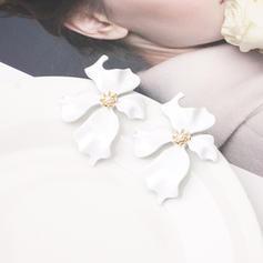 En forma de flor Aleación De mujer Pendientes