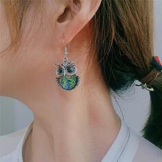 Exotic Cute Owl Boho Alloy Earrings 2 PCS