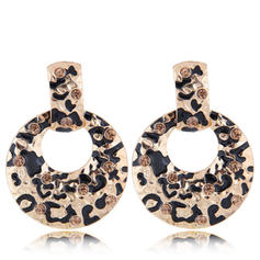 Stylish Alloy Rhinestones With Rhinestone Women's Fashion Earrings (Set of 2)