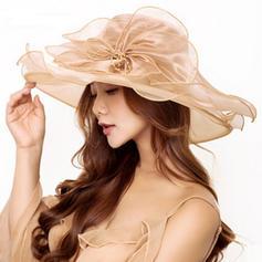 Signore Bella/Moda Del organza Beach / Sun Cappelli