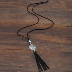 Fashionable Tibetan Silver Alloy With Tassels Women's Fashion Necklace