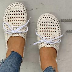 De mujer PVC Casual con Cordones Agujereado zapatos