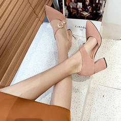 Жіночі Замша Квадратні підбори Сандалі з Пряжка взуття