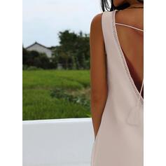 Sólido Sem mangas Vestidos soltos Comprimento do joelho Vestido Preto/Casual/Elegante Vestidos