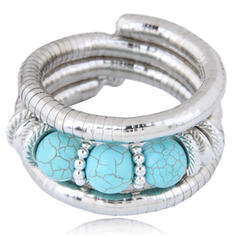 Fashionable Alloy Resin Women's Bracelets (Sold in a single piece)