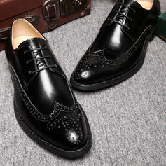 Lace-up Brogue Casual Microfiber Leather Men's Men's Oxfords
