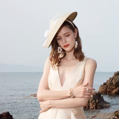 Ladies ' Smukke/Elegant Polyester med Fjer Diskette Hat