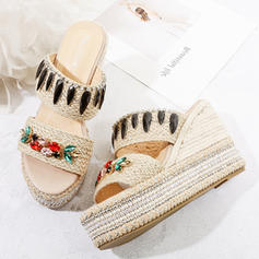 Women's Fabric Wedge Heel Sandals Platform Wedges Peep Toe With Others shoes