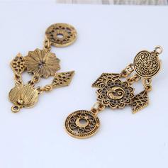 Vintage Alloy Women's Fashion Earrings (Set of 2)