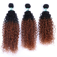 Kinky Curly Synthetic Hair Human Hair Weave (Sold in a single piece)