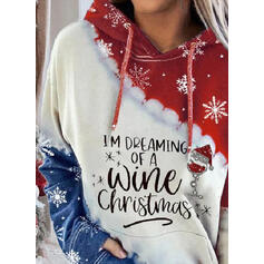 Sequins Figure Pockets Long Sleeves Christmas Sweatshirt