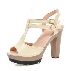 Women's Leatherette Stiletto Heel Sandals Pumps Platform Peep Toe Slingbacks With Buckle shoes