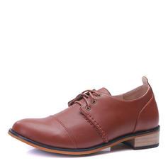 Cap Toes Zuschnüren Abendschuhe Microfaser Leder Herren Herren-Oxford-Schuhe