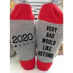 Wytłaczany/Nadruk Oddychająca/Wygodny/Boże Narodzenie/Crew Socks/2020/Dla obu płci Skarpety