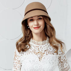 Ladies ' Enkle/Romantisk/Vintage Uld Diskette Hat